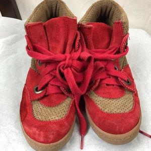Mtng originals 100% leather suede red and tan